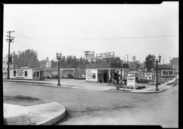 Gas station at 3436 West 1st Street, Los Angeles, CA, 1928