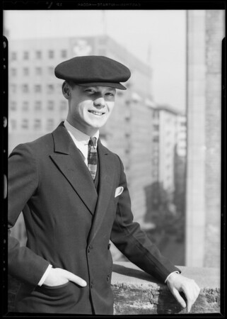 Man wearing cap, Southern California, 1930