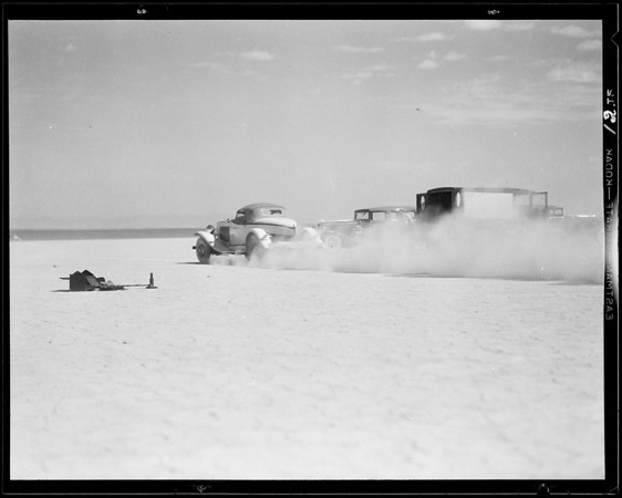 Auburn run at dry lake, Southern California, 1932
