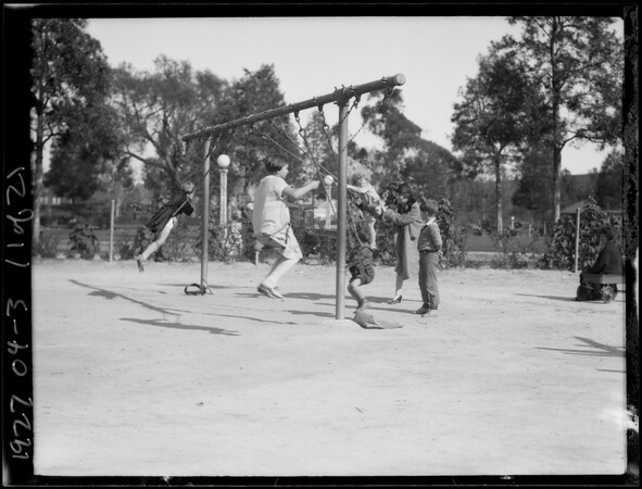 Children at play in Exposition Park, Los Angeles, CA, 1927