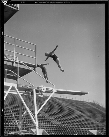 Opening of Olympic pool, Los Angeles, CA, 1932