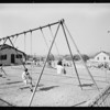 Benedict playground, Playground Department, Southern California, 1931