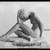 Model in clay, female, Southern California, 1930