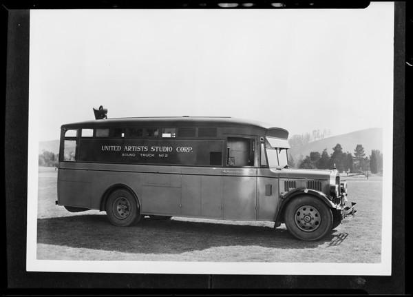 Movie sound trucks, White Truck Co., Southern California, 1932