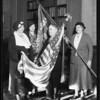 Mayor presenting flags, Los Angeles, CA, 1935
