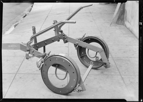 Tractor brake drums, Southern California, 1931