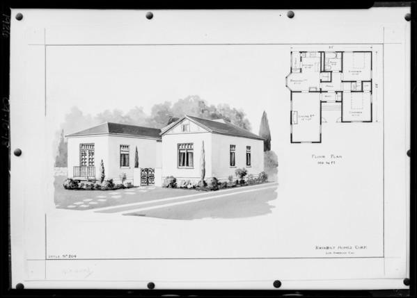 Copies of wash drawing, Southern California, 1926
