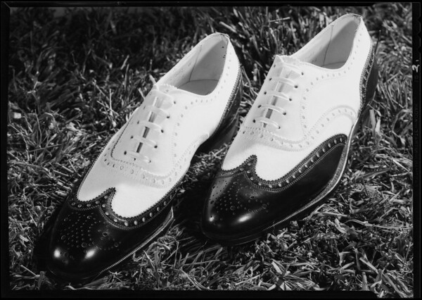 Two pairs sport shoes, Youngs Shoe Co., Southern California, 1930