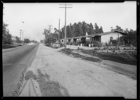Road scenes at San Dimas, Mr. George B. Hanawalt with Harry Parker, San Dimas, CA, 1930