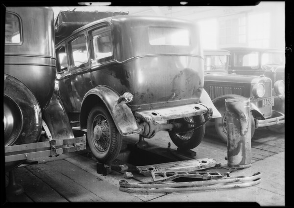 DeSoto sedan, Universal Insurance Co., Southern California, 1931