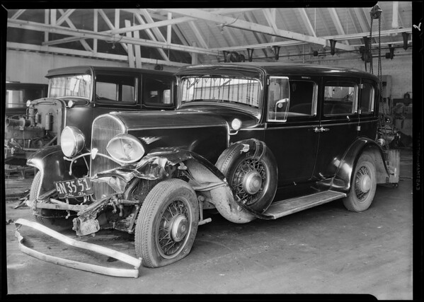 Mrs. Fillmore's Chrysler sedan, Aetna Insurance Co., Southern California, 1931