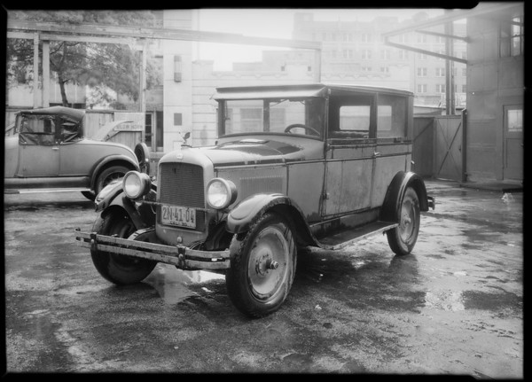 Jewett sedan, Southern California, 1931