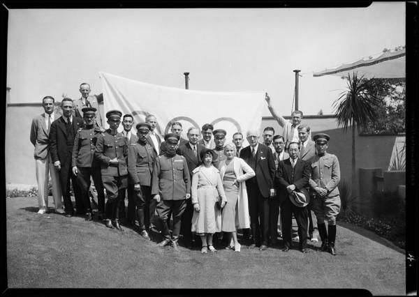 Olympic program & Joan Marsh, Los Angeles, CA, 1932