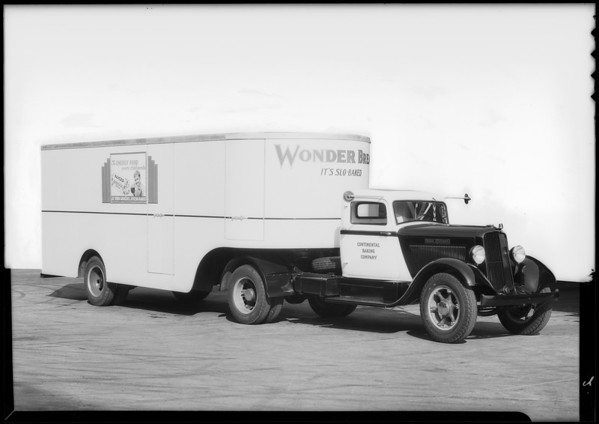 Continental Bakery Company truck, Southern California, 1934