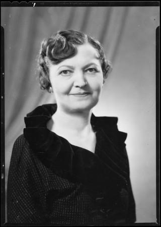 Portrait of Jane Hoyt, Woodbury College, Southern California, 1935