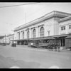 Series of pictures for lantern slides, at Southern Pacific depot, Los Angeles, CA, 1927