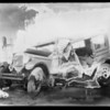 Wrecked Hupmobile, Southern California, 1927