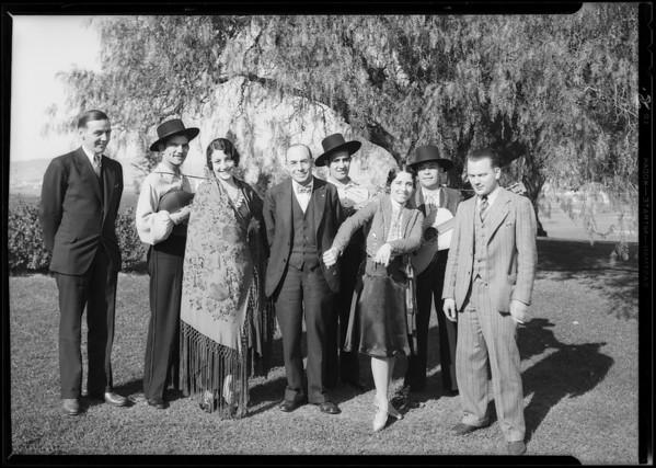 Lions Club at breakfast club luncheon, Southern California, 1930