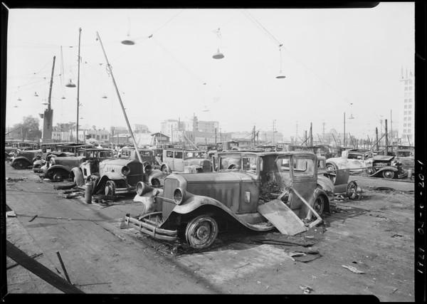 Pierce-Arrow cars at auto show, Southern California, 1929