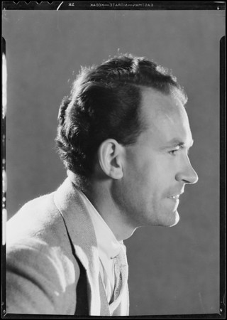 Portraits of Richfield reporter, Southern California, 1932