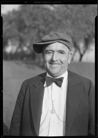 """One eyed Connolly"" taken at Hollywood breakfast club, Southern California, 1930"