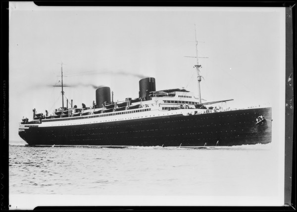 "Steamer ""Columbus"", Southern California, 1931"