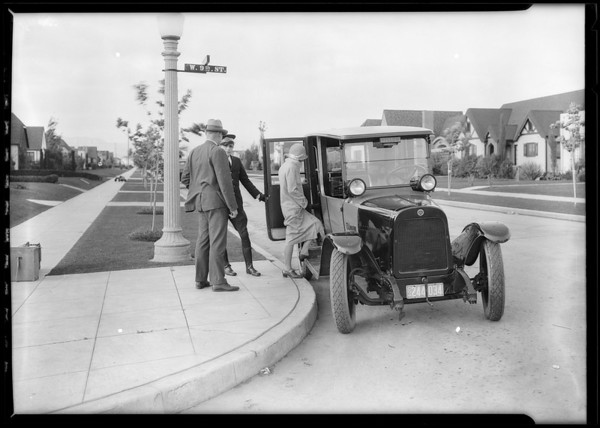 Lantern slides, courtesy at door, etc., Southern California, 1927