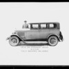 Velie car for postcards, Southern California, 1926