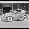 Cars with air wheel tires, 1317 South Hope Street, Los Angeles, CA, 1932