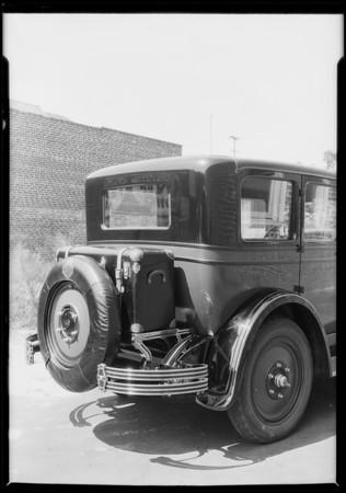 Nash car & Standard trunk rack, Southern California, 1926