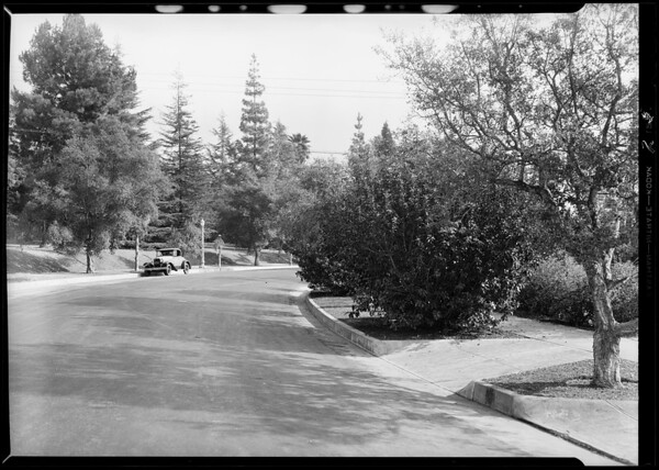 Accident at Hill Drive and Argus Drive, Los Angeles, CA, 1931