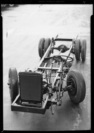 Bus chassis, Southern California, 1934