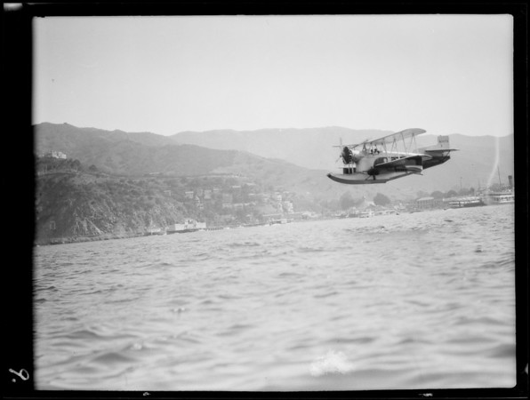 Airplanes at Catalina Island, Western Air Express, Southern California, 1929