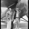 Amelia Earhart & plane, Southern California, 1932