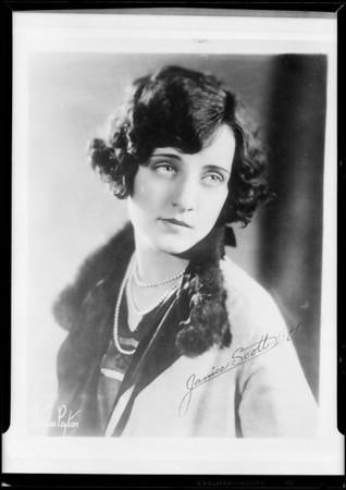 Janice Scott Littick, Southern California, 1929
