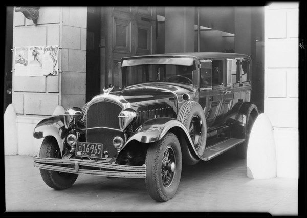 Los Angeles fire chief's Chrysler with Woodlite, Southern California, 1929
