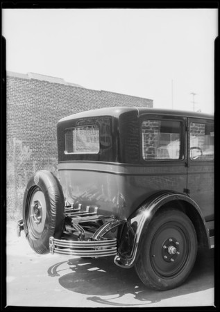 Nash car & Standard trunk rack, Southern California, 1926