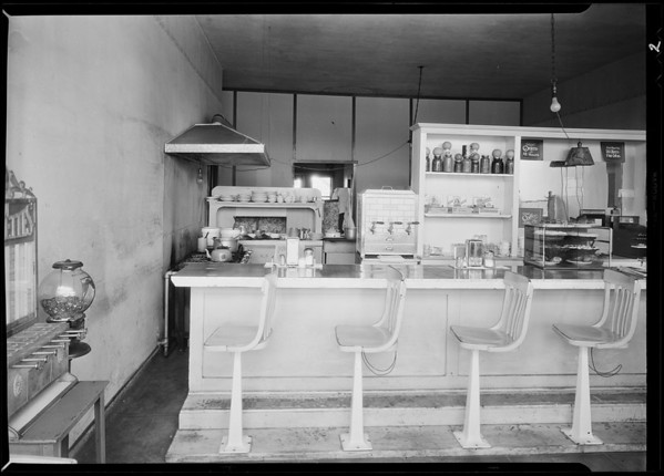 Restaurant in Brentwood, Challenge Cream and Butter Association assured, Los Angeles, CA, 1931