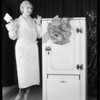 May cold electric refrigerator, Southern California, 1930