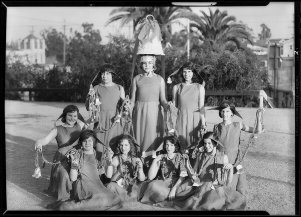 Christmas festival, Evergreen playground, Los Angeles, CA, 1930