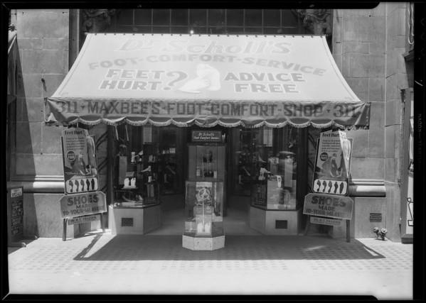 Maxbee's Foot Comfort Shop, 311 South Broadway, Los Angeles, CA, 1931