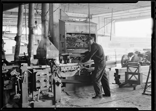 Hammond Lumber Co. machine at work, Southern California, 1930