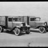 Haas Baruch Co. trucks, Southern California, 1931