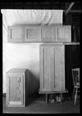 Masterbilt cabinets, H.V. Cowan, Southern California, 1926
