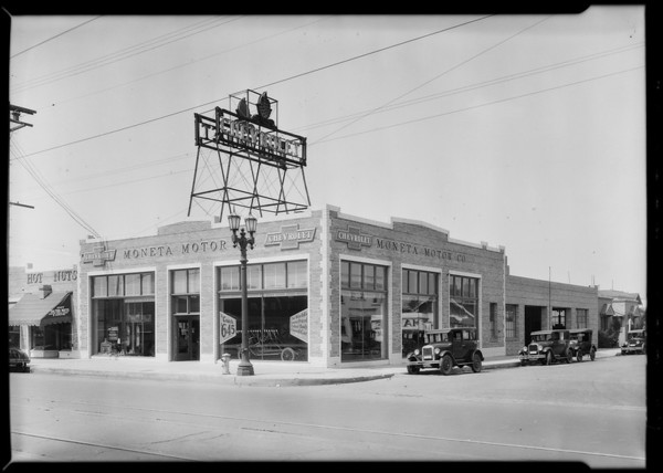 Moneta Motors, Southern California, 1926