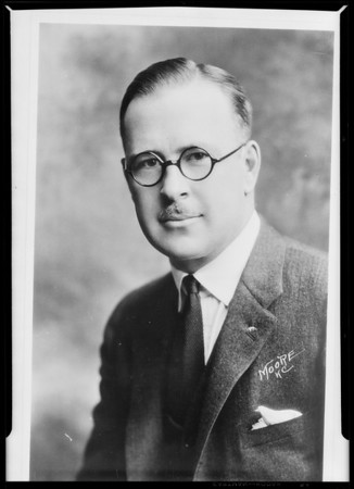 Copy of portrait of Mr. L.E. McCune, Southern California, 1930