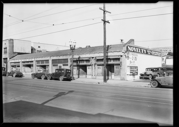 Novelty Manufacturing Co., 3669 Whittier Boulevard, Los Angeles, CA, 1931