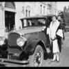 Magnin gown and Marmon at Ambassador, Southern California, 1925