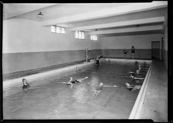 Retake of swimming pool, Southern California, 1930