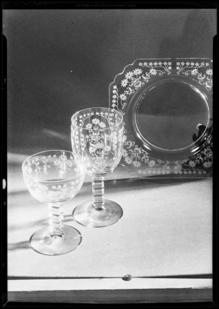 Glassware, Southern California, 1931